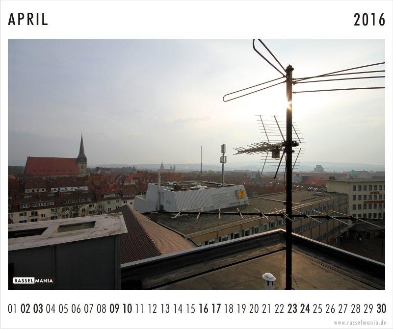 Rasselmania Kalenderblatt April 2016