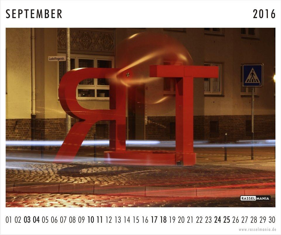 Rasselmania Kalenderblatt September 2016 01