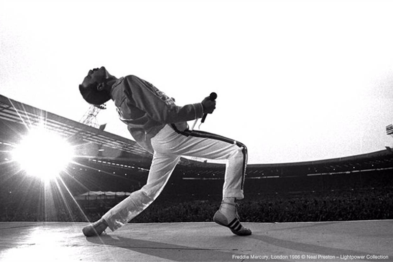 Neal Preston: In the Eye of the Rock'n'Roll Hurricane | Freddie Mercury, London 1986 © Neal Preston – Lightpower Collection