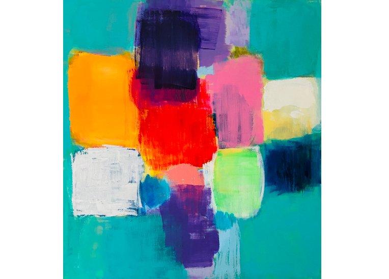 Johanna Hess, Mariposa, 2015, 130 x 120 cm, Acryl auf Nessel